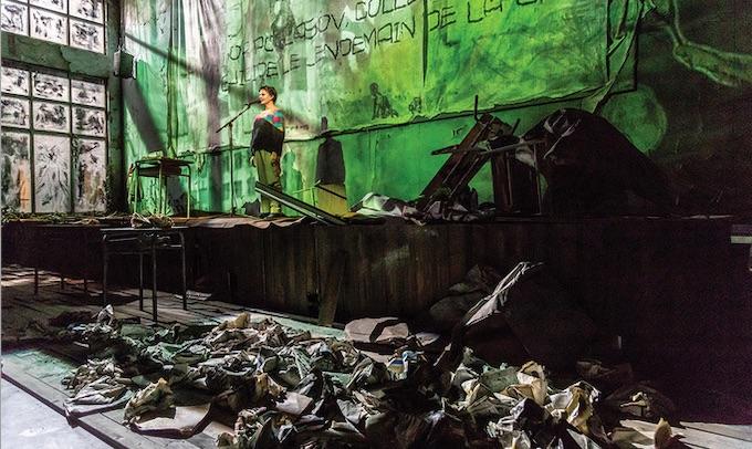 Théâtre de la Criée, Marseille. La fin de l'homme rouge, d'après le roman de Svetlana Alexievitch, mise en scène Emmanuel Meirieu. Création 2019