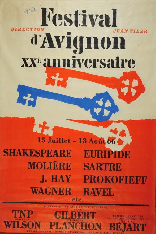 Signé Jacno, un graphisme brut pour un théâtre populaire, exposition à la Maison Jean Vilar, Avignon, du 18.05 au 3.11.19