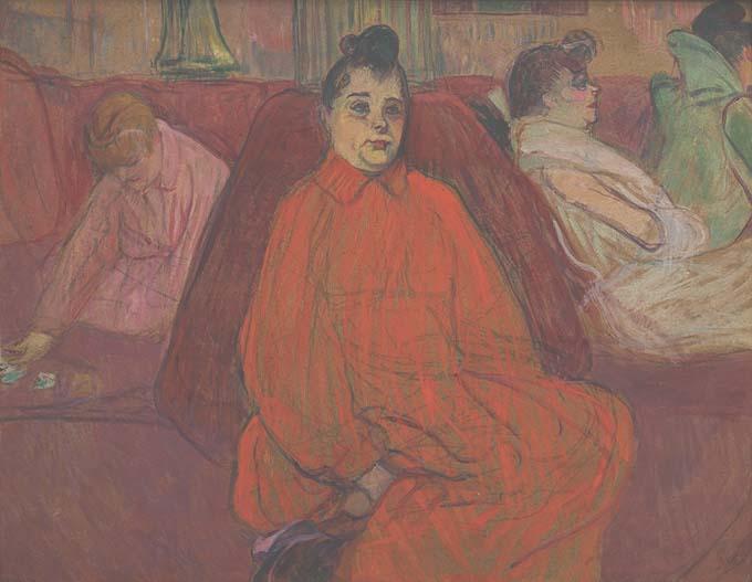 Henri de Toulouse-Lautrec - Le divan © RNM