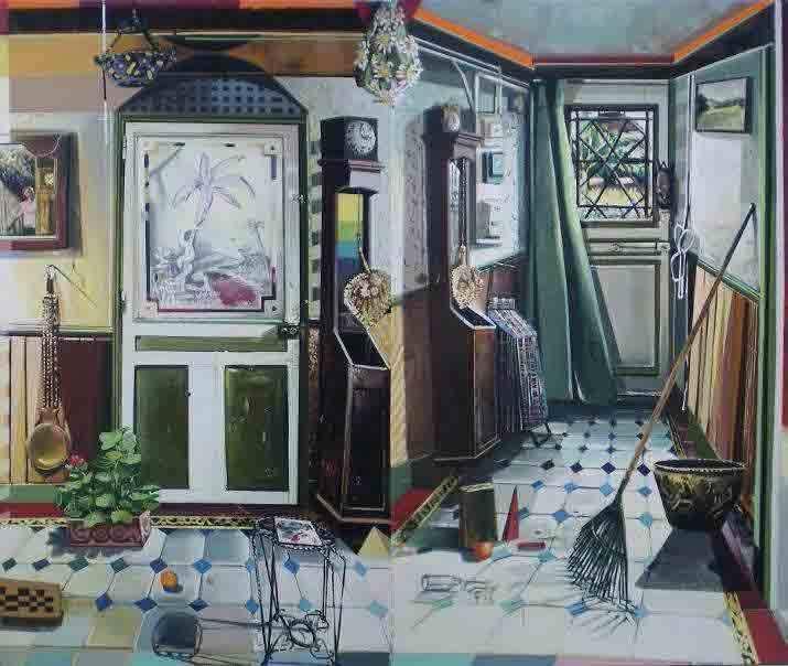 Mathieu Cherkit. Caducée Vaudou - 2011, Huile sur toile - 195 x 238 cm Courtesy Galerie Jean Brolly, Paris © DR