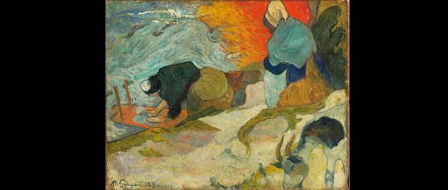 Paul Gauguin. « Laveuses à Arles », 1888. Huile sur toile. 74 x 92 cm. (Salle Arte). © Museo Bellas Arte