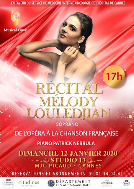 Récital Mélody Louledjian au Studio 13 à Cannes le 12/1/20 à 17h