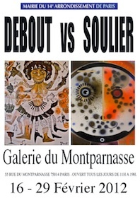 Debout Vs Soulier, galerie du Montparnasse, Paris, du 16 au 29 février 2012