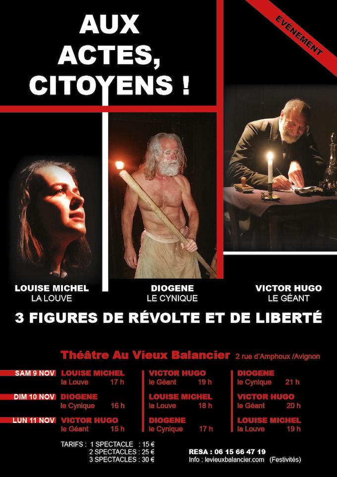 Louise Michel La Louve, d'Alain Duprat, Théâtre du Vieux Balancier, Avignon, les 9, 10 et 11 novembre 2019