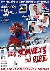9e Sommets du rire, humeur, amour, humour, Arêches-Beaufort, du 12 au 14 avril 2012