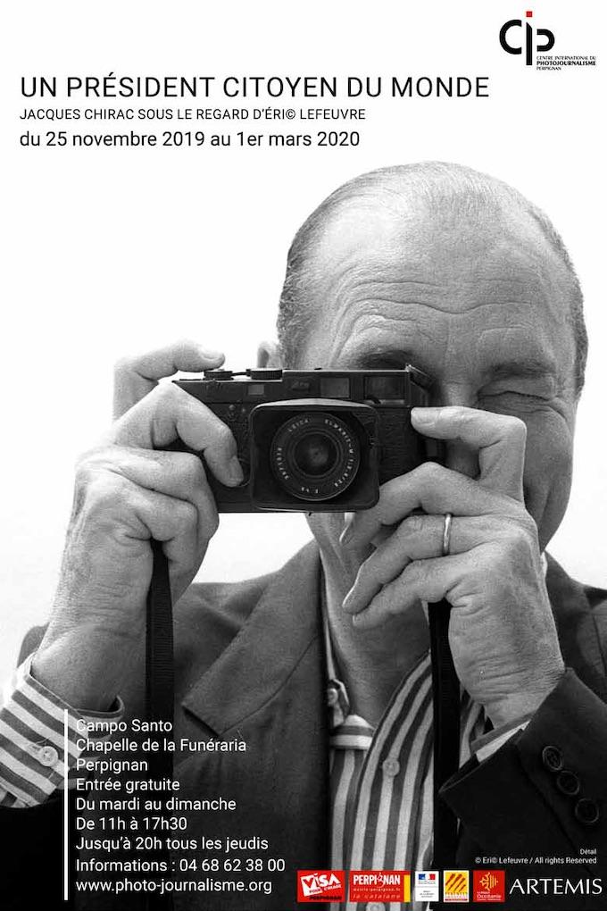 Un président citoyen du monde Jacques Chirac sous le regard d'Eric Lefeuvre du 25 novembre 2019 au 1er mars 2020, Campo Santo, Perpignan
