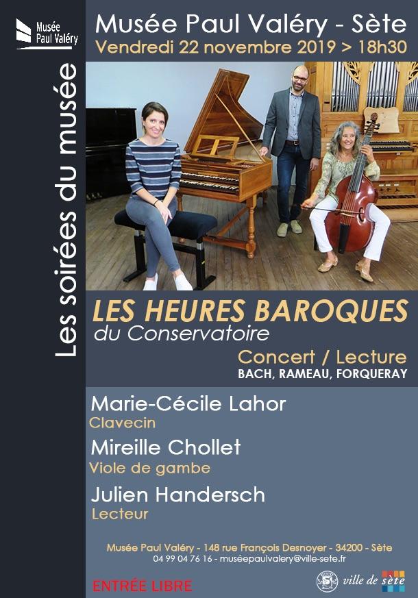 Les Heures Baroques du Conservatoire, vendredi 22 novembre - 18h30 au Musée Paul Valéry de Sète