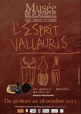 «L'Esprit Vallauris, les Années 50. Les potiers-Artistes», Musée de la Poterie Méditerranéenne à Saint-Quentin la Poterie (Gard), 30 mars au 28 octobre 2012