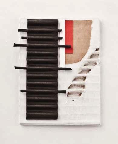 Henri Laugier, Mur Papier, carton collage, 2011