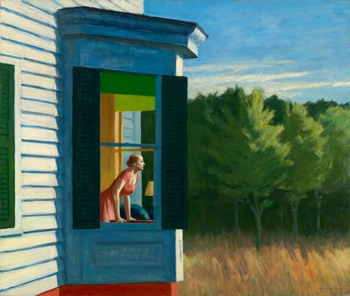 Edward Hopper, Cape Cod Morning, 1950 Huile sur toile, 86,7 × 102,3 cm Smithsonian American Art Museum, Gift of the Sara Roby Foundation © Heirs of Josephine Hopper / 2019, ProLitteris, Zurich Photo : Smithsonian American Art Museum, Gene Young