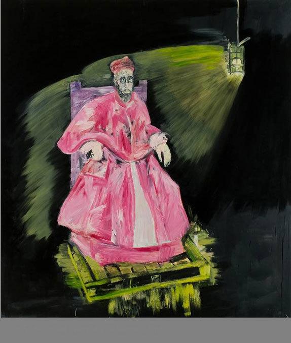 Louis-Cane, cardinal sur palette,-2011 © Adagp, Paris, 2012