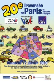 20e Traversée de Paris en véhicules d'époque le 12 janvier 2019