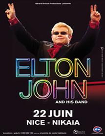 Elton John le 22 Juin au Palais Nikaia de Nice