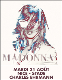 Madonna le 21 août à Nice