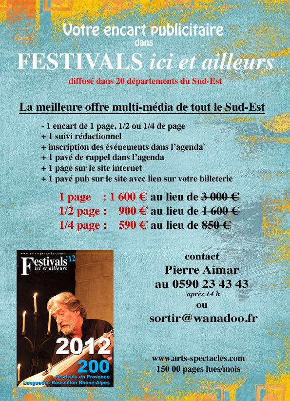 Festivals ici et ailleurs et couplage avec www.arts-spectacles.com
