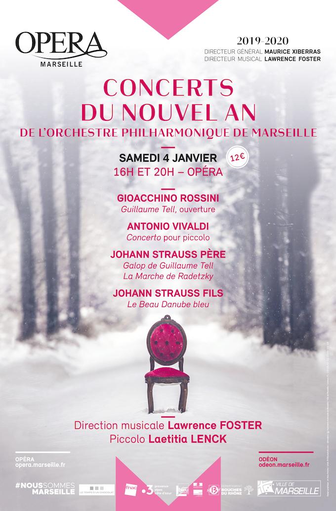 Marseille, concert du Nouvel An samedi 4 janvier à 16h et 20h à l'opéra