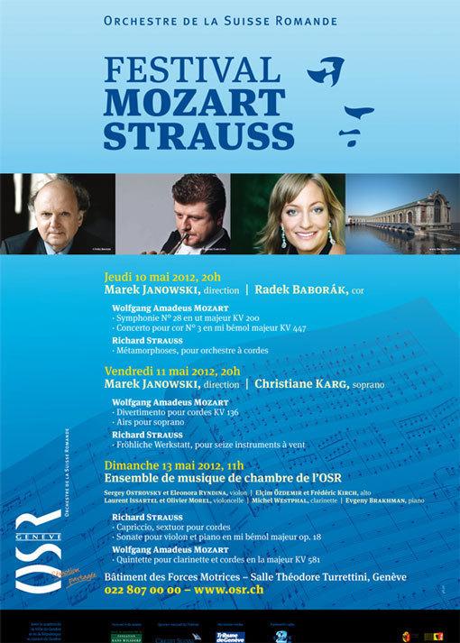 Festival Mozart/Strauss, Genève, du 10 au 13 mai 2012