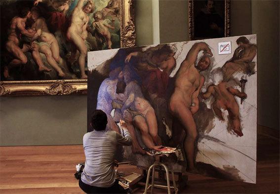 Étienne Establie au Louvre © DR