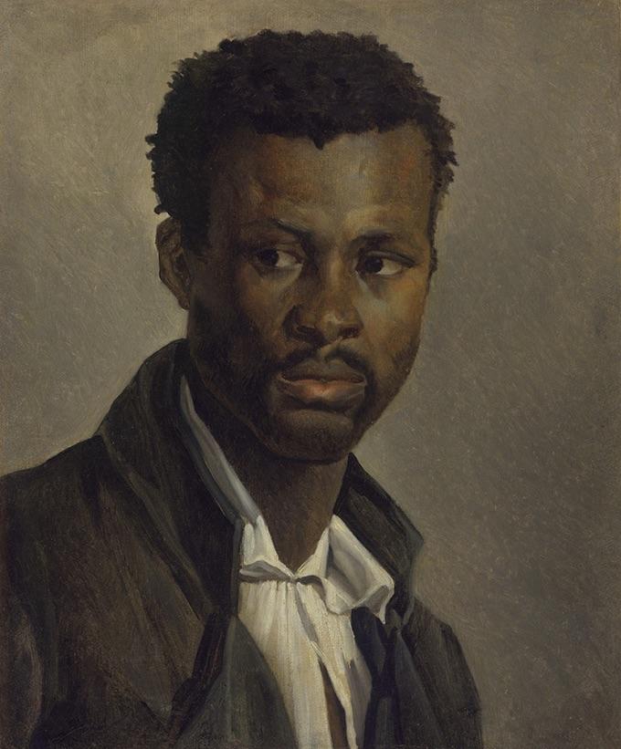 Théodore Géricault, Portrait de Noir, 1812-1814, huile sur toile, 46,3 × 37,2 cm, © Musée Denon, Chalon-sur-Saône