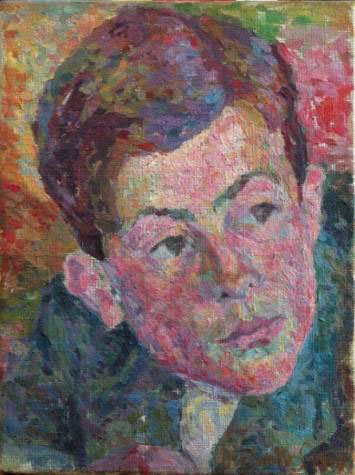Portrait de Diego, 1919, huile sur toile, 25,5 x 19 cm. Collection Adrien Maeght, Saint-Paul © Succession Giacometti (Fondation Giacometti, Paris et SIAE) 2012. Photo Galerie Maeght, Paris.