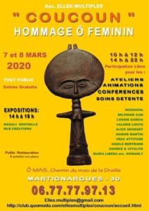 « Coucoun » Hommage Ô Féminin, les 7 et 8 mars 2020, à Martignargues (30)