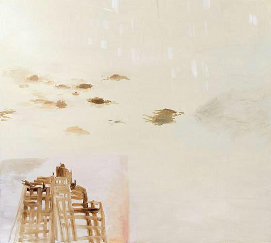Emmanuelle Castellan, Berlin Jour, 2011, huile sur toile, 190 x 170 cm