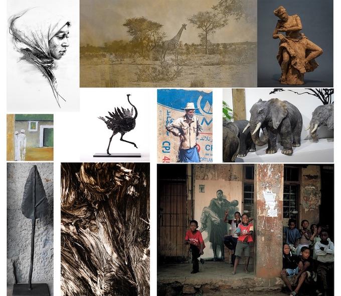 """""""Terres d'Afrique"""", exposition collective. Du 16 avril au 17 mai, àn la Galerie Bénédicte Giniaux, à Bergerac"""