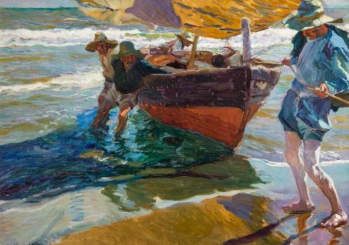 Joaquín Sorolla, Le retour de la pêche, 1904, huile sur toile, 75 x 105 cm, Musei di Nervi - Raccolte Frugone, Photo - © Armando Pastorino