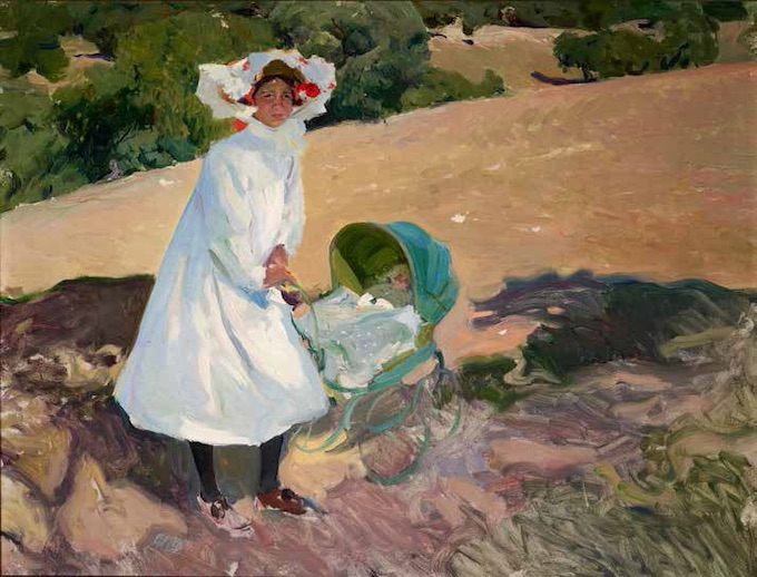Joaquín Sorolla, Elenita au Pardo, 1907, huile sur toile, 120 x 150 cm, Collection particulière © Photographie Fernando Maquieira, 2019
