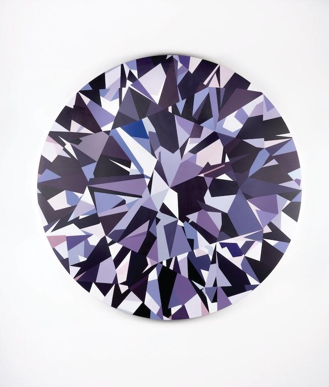 Diamant Mathieu Mercier Paris, 2015 Acrylique sur toile Courtesy Mathieu Mercier © Mathieu Mercier
