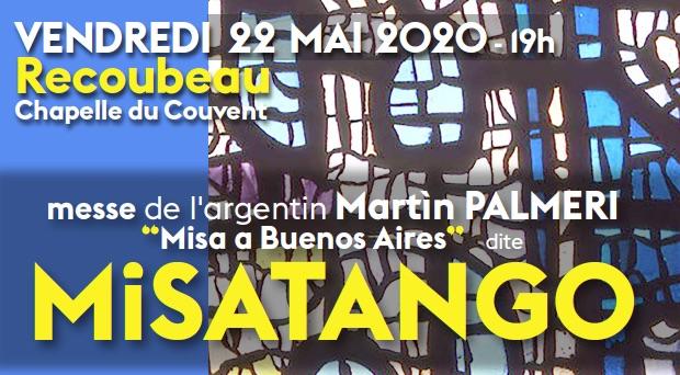 « Misa a Buenos Aires » dite  Misatango, chapelle de Recoubeau (26), le 22 mai 2020, 19h