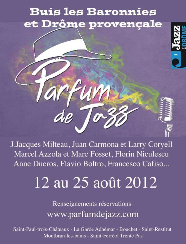 Festival Parfum de Jazz, Buis-les-Baronnies et en Drôme, du 12 au 25 août 2012