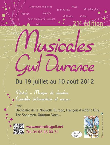 Festival Les Musicales Guil Durance : La Musique, un don des dieux, du 19 juillet au 10 août 2012