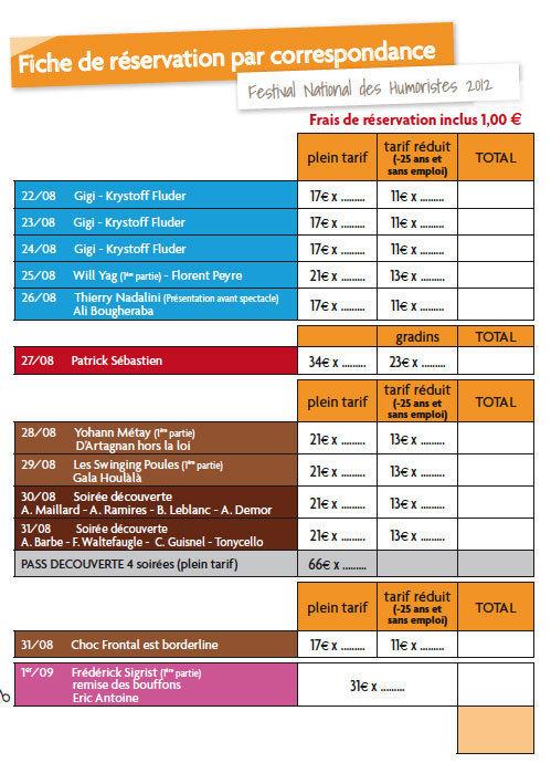 Festival National des Humoristes à Tournon -Tain l'Hermitage, du 22 août au 1er septembre