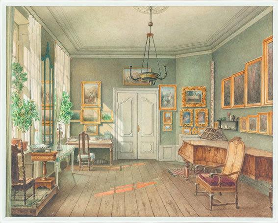 « Intérieurs romantiques », Aquarelles 1820-1890, Cooper-Hewitt Museum, New York/Donation Eugene V. Thaw. Hôtel Scheffer-Renan, Paris, du 10 septembre 2012 au 13 janvier 2013