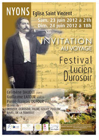 Festival Lucien Durosoir, Nyons, Drôme, les 23 et 24 juin 2012