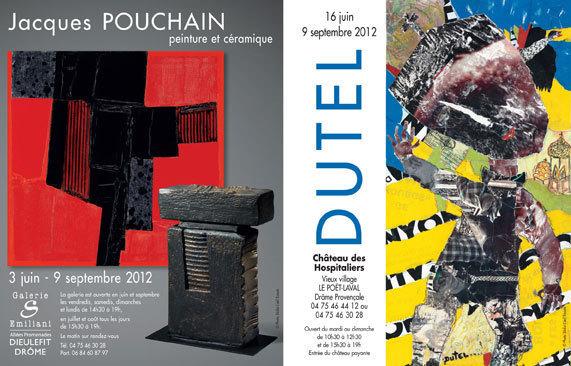 Jacques Pouchain à la Galerie S, Dieulefit et Dutel au château des Hospitaliers du Poët-Laval, du 16 juin au 9 septembre 2012