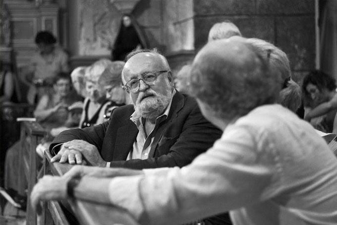 Krzysztof Penderecki en l'eglise de Molitg, été 2013