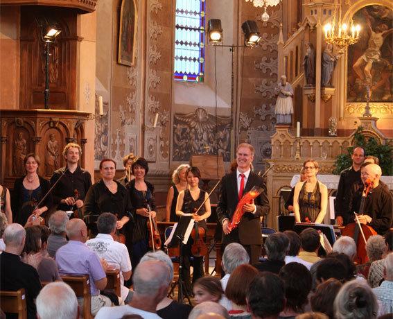 A la tête de l'Orchestre des Pays de Savoie, le chef Christoph Poppen a été plébiscité par le public