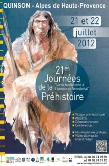 Journées de la Préhistoire de Quinson les 21 et 22 juillet 2012