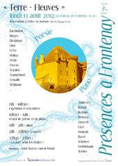 """""""Présences à Frontenay"""" - Terres-Fleuves. Récital de piano et poésie, château de Frontenay (Jura), 13 août 2012"""