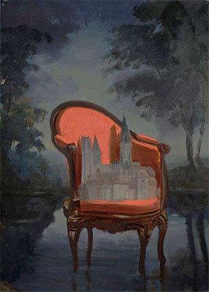 Filip Mirazovic, Cathédrale française, 2010, huile sur toile, 105 x 75 cm