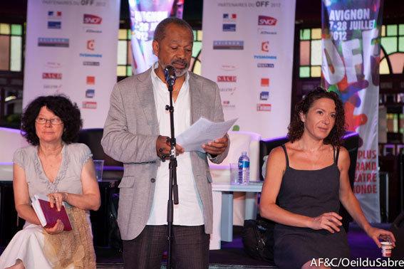 Greg Germain, président d'Avignon Off et Cies, présente le bilan 2012 © AF&C/Œildusabre