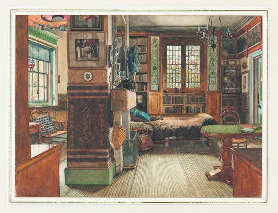 Anna Alma-Tadema (Angleterre, 1865-1943)La bibliothèque de sir Lawrence Alma-Tadema à Townshend House, Londres, 1884 © Cooper-Hewitt, National Design Museum, Smithsonian Institution, photo Matt Flynn