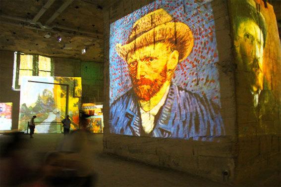 Portrait de Van Gogh sur plusieurs mètres de hauteur © Pierre Aimar