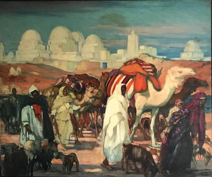 Jeanne Thil, Caravane devant Kairouan, vers 1929-1930_Huile sur toile, 154 x 184 cm_Collection privée