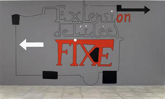 Albérola Jean-Michel Extension de l'idée fixe Mur peint Dimensions variables © François Fernandez