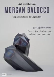 Du 3 au 14 juillet, exposition de Morgan Balocco à l'espace culturel de Gigondas (84)
