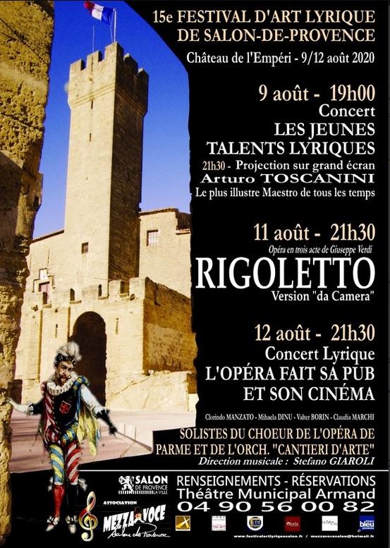 Le festival d'art lyrique de Salon-de-Provence fête ses 15 ans ! Les 9, 11 et 12 août 2020