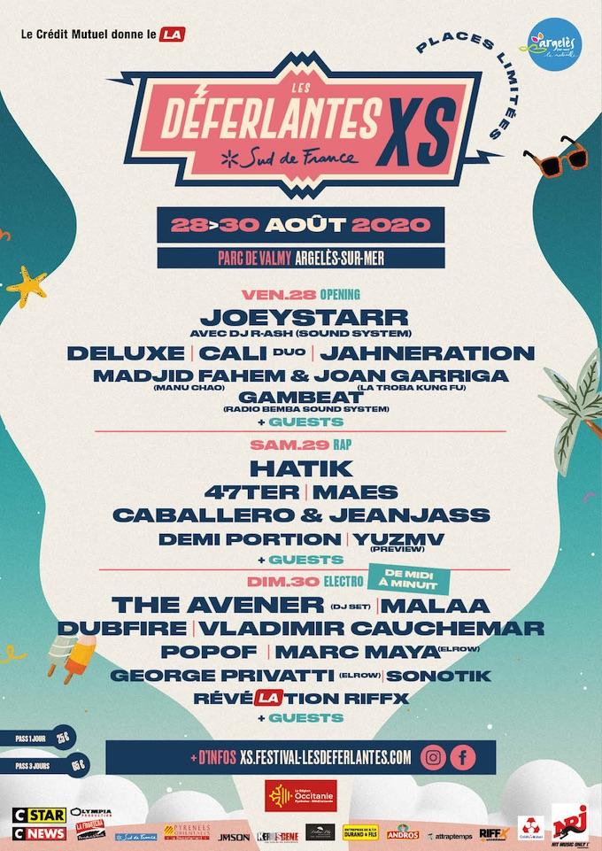 Les Déferlantes XS Sud de France, du 28 au 30 août 2020 au Parc de Valmy à Argelès-sur-mer